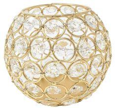 Golden Round Crystal Votive