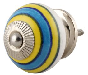 Sky Blue Yellow Knob