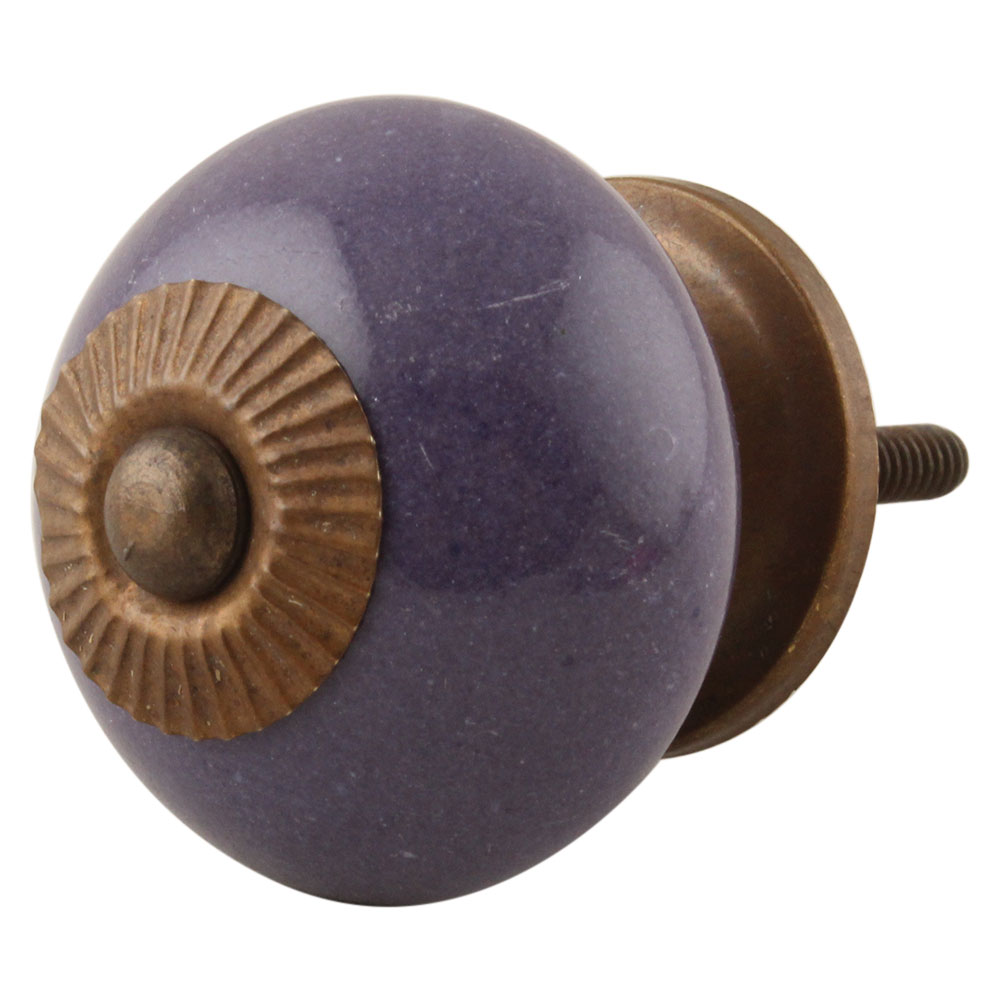 Purple Round Knob
