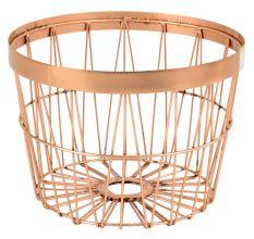 Iron Wire Basket In Copper Colour