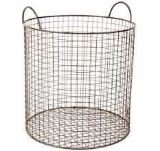 Iron Wire Basket In Grey