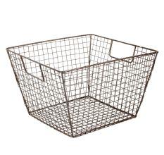 Iron Wire Basket In Black