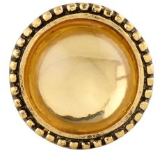 Clear Wheel Golden Glass and Metal Cabinet Knobs