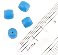 Sky Blue Glass Barrel Shaped Spacer Loose Beads For Making  Jewelry (Pack Of 12)