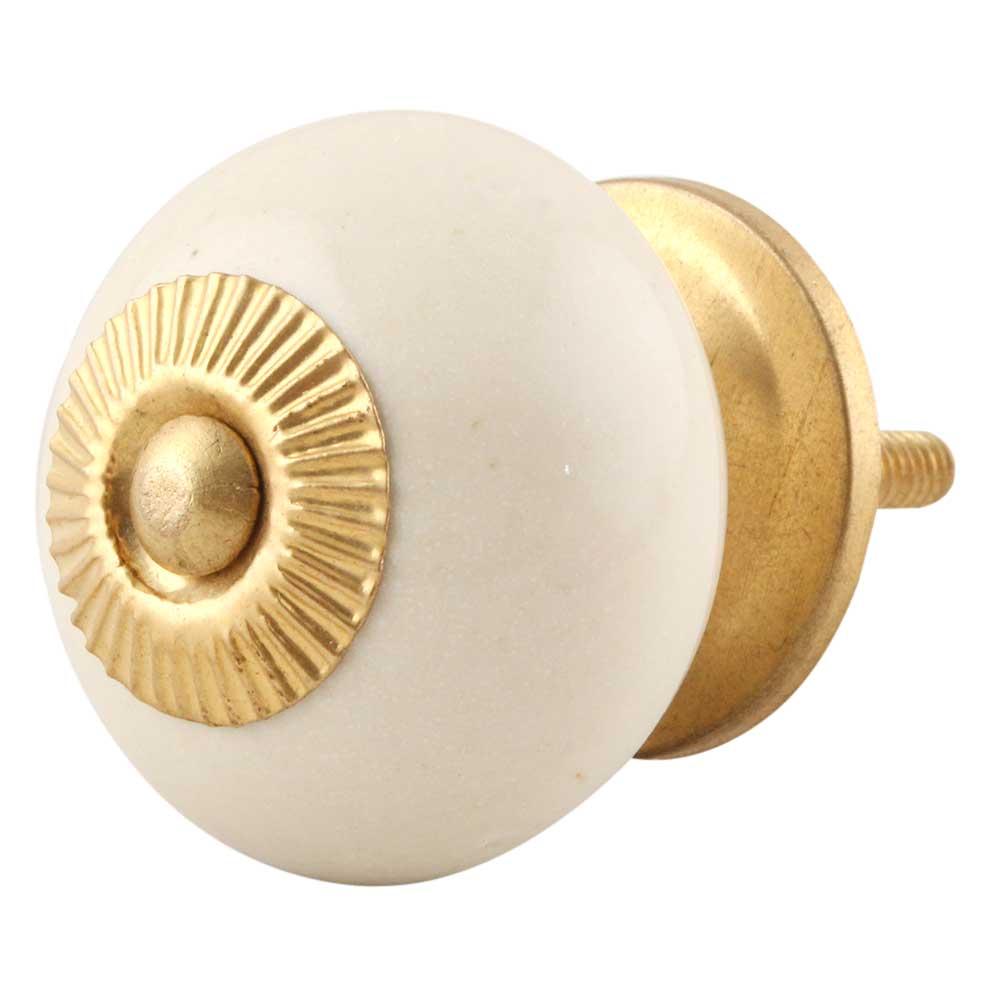 Cream Round Knob