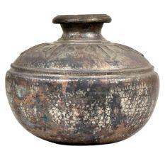 Brass Big Belly Rustic Tribal Water Storage Pot