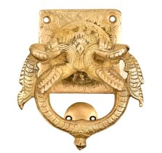 Solid Brass Door Knocker With Thunder Dragon Entrance Door Metal Knocker