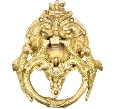Solid Brass Birds And Dragon Head Door Knocker Ring