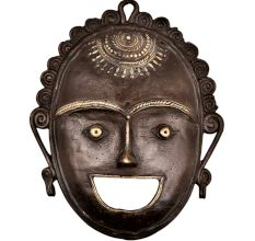 Brass Metal Smiley Mask Tribal Dhokra Art