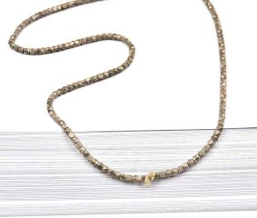 Loose Handmade Brass Faceted Diamond Shape Beads For Jewelry making (12 in Pack)