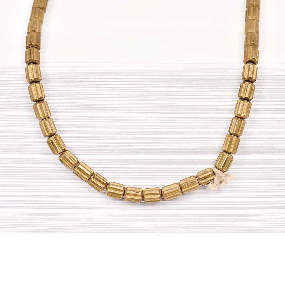 Fashion Jewelry Round Beads Gold Plated Brass Chain for Women And Girls (12 in Pack)