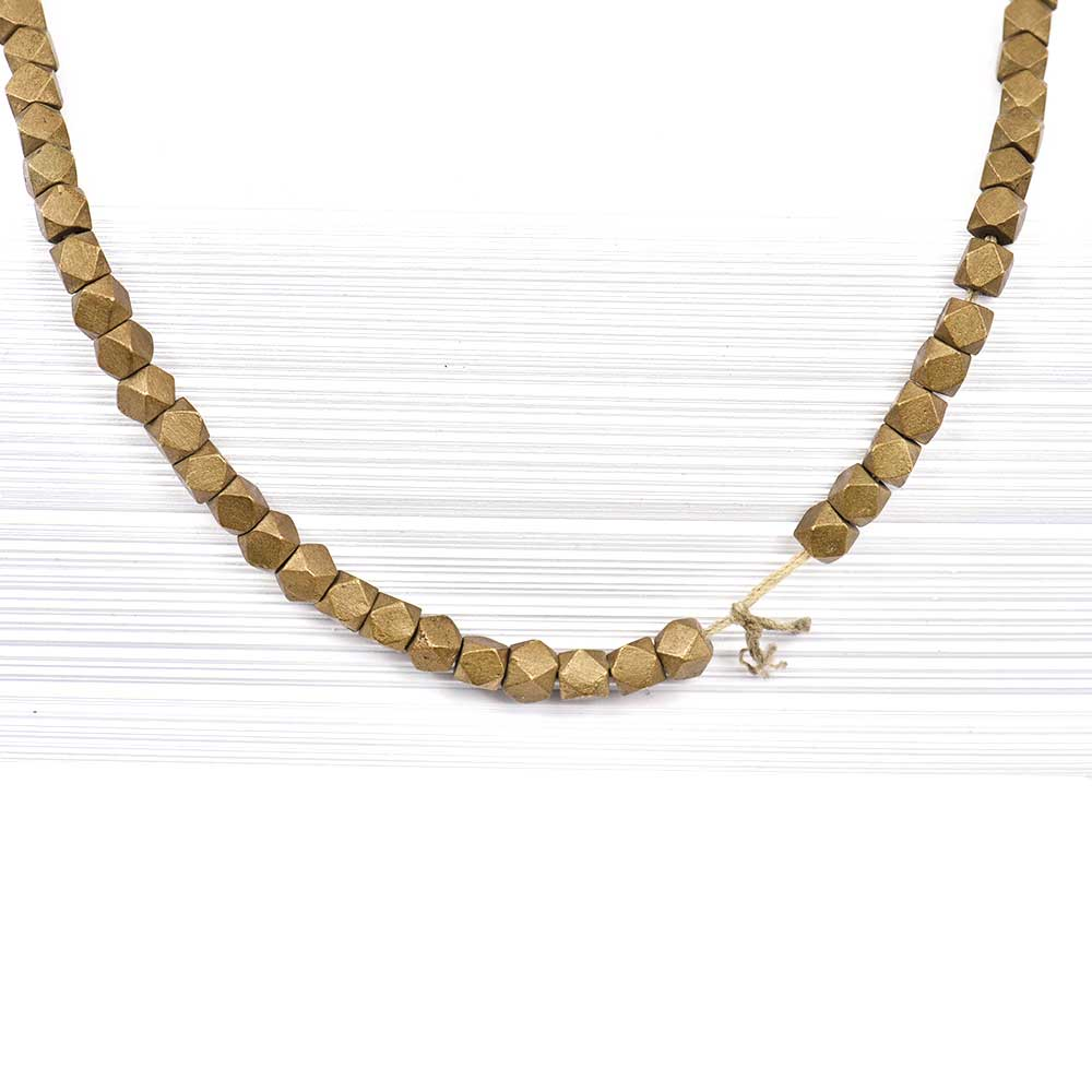 Fashion Jewelry Gold Plated Natural Rondelle Shaped Beads For Women And Girls (12 in Pack)