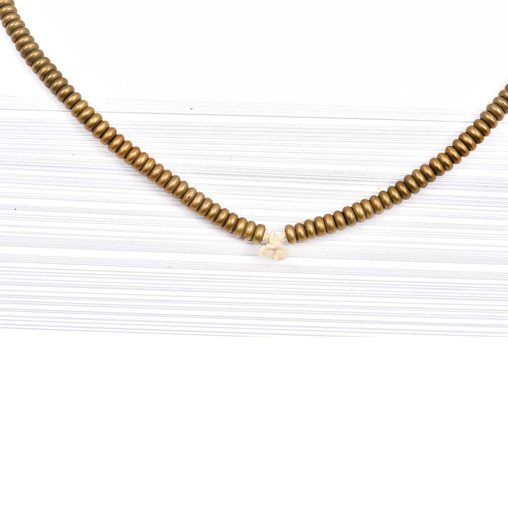 Loose Handmade Brass Heishi Spacer Beads For Jewelry making (36 in Pack)