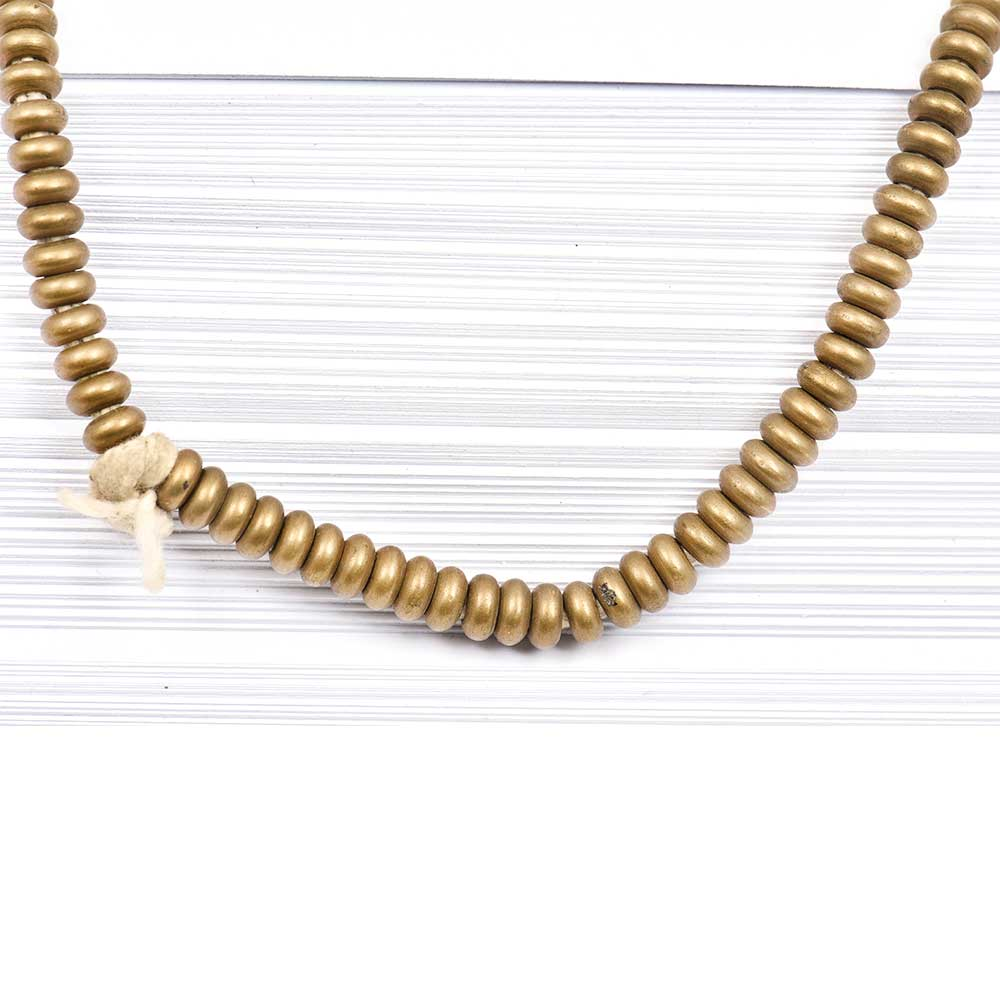 Loose Handmade Brass Smooth Heishi Spacer Beads For Jewelry making (12 in Pack)
