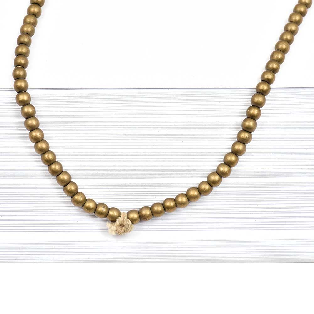 Loose Handmade Brass Smooth Round Spacer Beads For Jewelry making (12 in Pack)