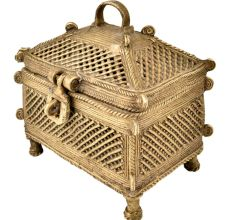 Brass Jali Design Temple Dhokra Style Jewellery Box