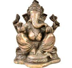 Handmade Ganesh Idol Figurine Elephant God Statue