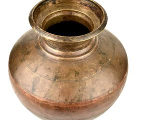 Traditional Brass And Copper Or Ganga Jamuna Pot