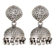 92.5 Sterling Earrings in Traditional Design Jhumkies For Daily Wear