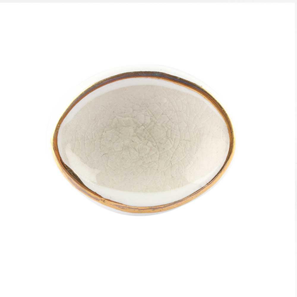 Cream Oval Ceramic Drawer Knob Online