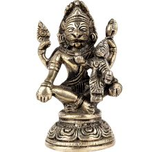 Brass Lord Narsingh and Goddess Lakshmi Statue