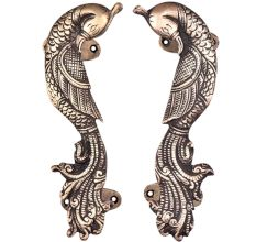 Brass Door Handle Peacock Figurine Design Door Pull