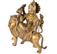 Brass Durga Ma Statue Ambe Ma Shera Wali Idol