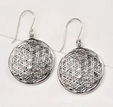 92.5 Sterling Silver Floral Jali New Design Earrings