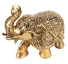 Brass Elephant Statue Trunk Up Gifting Decoration Statues
