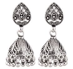 92.5 Sterling Silver Earrings Afghani Style Jhumkis Cocktail earrings