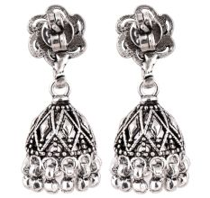 92.5 Sterling Silver Earrings Office Wear Jhumki Chandelier