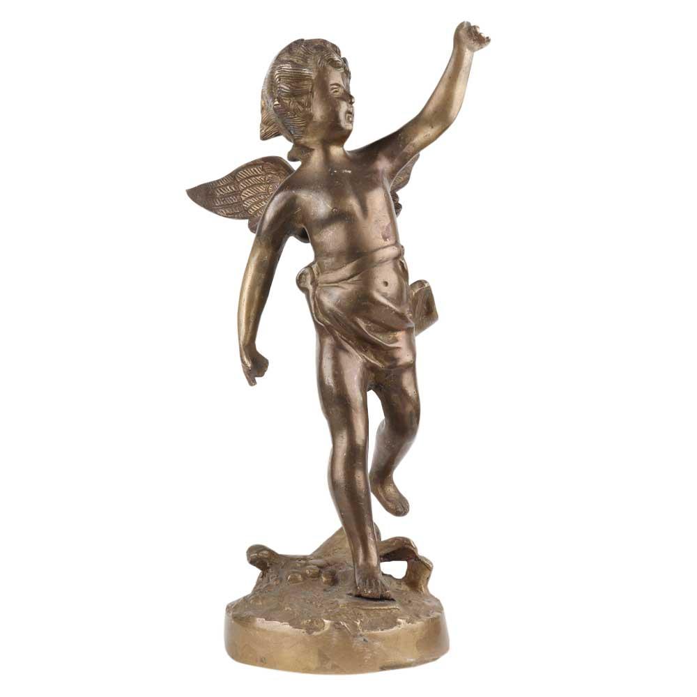 Heavy Brass Angel Cherub Statue