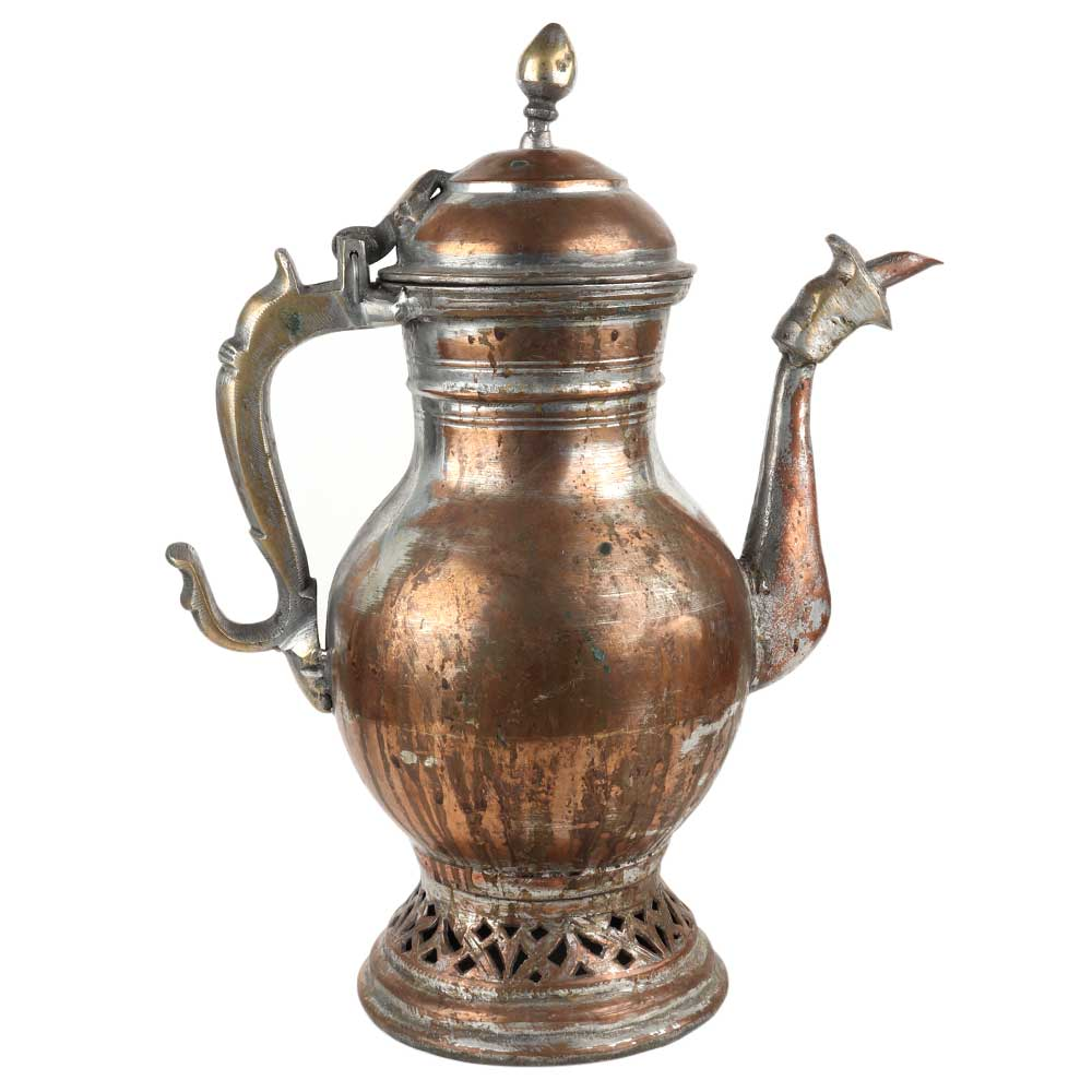 Copper Pot With Lid  Islamic Arabic Carving Teapot