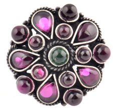 Amethyst Stones 92.5 Sterling Silver Ring For Women (Free Size)