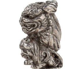 Silver Aluminum Dragon Statue Luck Feng Shui Animal Statue