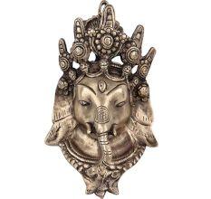 Brass Ganesha Wall Hanging Tibetan Intricately Carved Mask