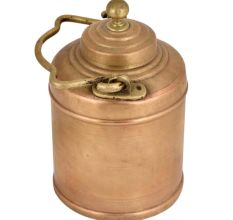 Brass Milk Pot Cylindrical Shape Decorative Handle