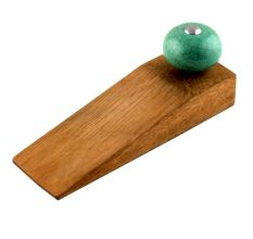 Sea Green Black Crackle Ceramic Wooden Door Stopper