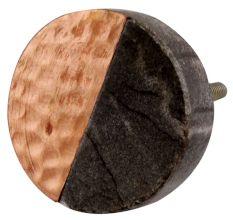 Grey Stone Copper Round Dresser Knobs