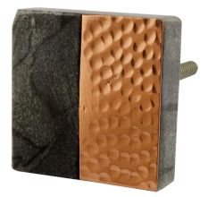 Grey Stone Copper Square Dresser Knobs