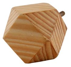 Natural Hexagon Wooden Cabinet Knobs