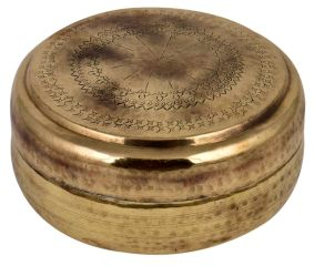 Brass Round Tiffin Box Traditional Shape And Design Storage Box