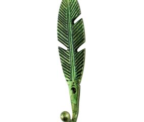 Green Big Feather Iron Hook