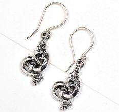 Dragon Charm 92.5 Sterling silver Earrings