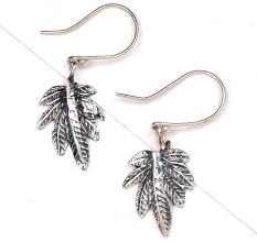 Hanging Leaf 92.5 Sterling silver Earrings For Girls