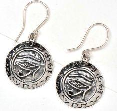 Evil Eye Charm 92.5 Sterling Silver Earrings