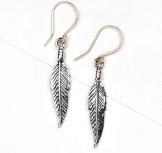Leaf Design 92.5 Sterling Silver Dangler Earrings For women