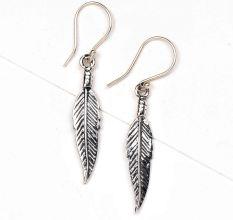 Leaf Design 92.5 Sterling Silver Dangler Earrings For women