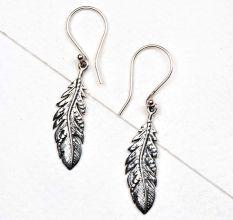 Long leaf 92.5 Sterling silver daily Wear earrings