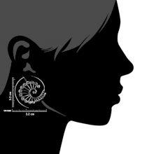 Peacock Circles Round 92.5 Sterling Silver Spiral Earring Tribal Hoop Earrings